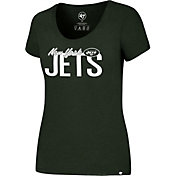 '47 Women's New York Jets Foil Green T-Shirt
