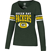 '47 Women's Green Bay Packers Club Stripe Green Long Sleeve Shirt