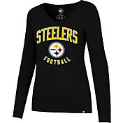 '47 Women's Pittsburgh Steelers Football Black Long Sleeve Shirt