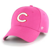 '47 Youth Girls' Chicago Cubs Basic Pink Adjustable Hat