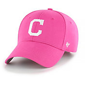 '47 Youth Girls' Cleveland Indians Basic Pink Adjustable Hat