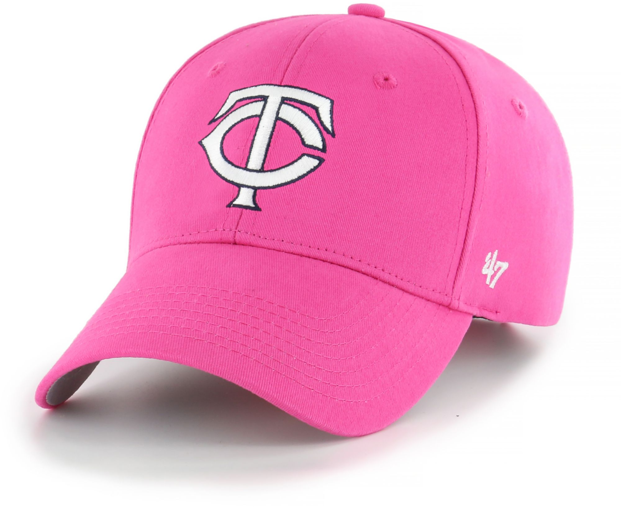 pretty nice 4147e 20d34 ... discount code for 47 youth girls minnesota twins basic pink adjustable  hat de2fc 77068
