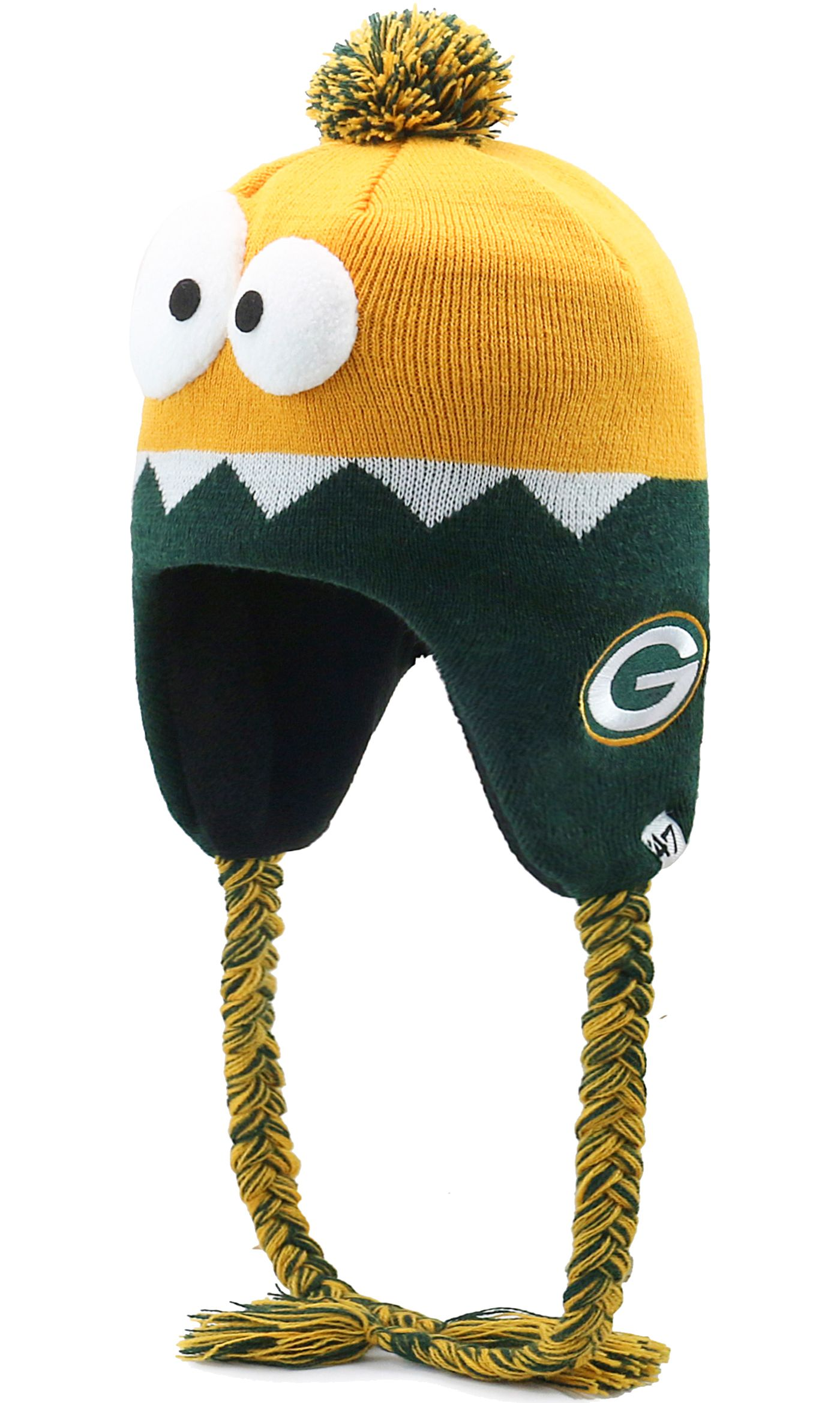 '47 Youth Green Bay Packers Hammerhead Gold Knit Trapper