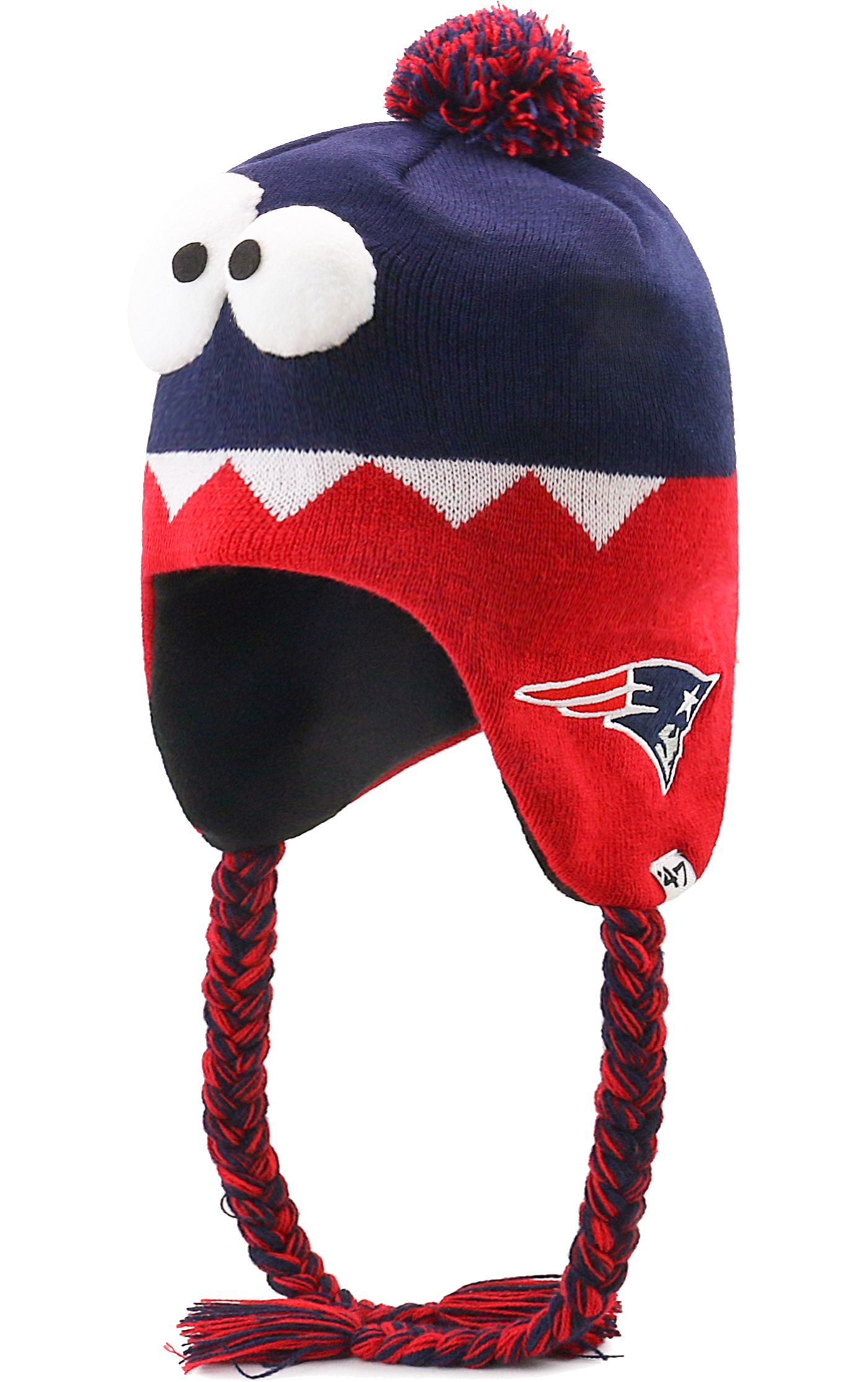 '47 Youth New England Patriots Hammerhead Red Knit Trapper