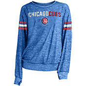New Era Women's Chicago Cubs Tri-Blend Long Sleeve Crew Sweater