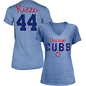 New Era Women's Chicago Cubs Anthony Rizzo #44 Royal Tri-Blend V-Neck T-Shirt