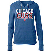 New Era Women's Chicago Cubs Tri-Blend Pullover Hoodie