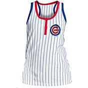 New Era Women's Chicago Cubs Pinstripe White Tank