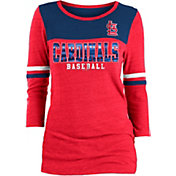 New Era Women's St. Louis Cardinals Three-Quarter Sleeve Shirt