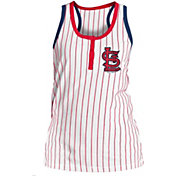 New Era Women's St. Louis Cardinals Pinstripe White Tank