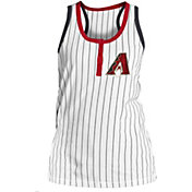 New Era Women's Arizona Diamondbacks Pinstripe White Tank
