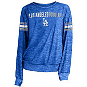 New Era Women's Los Angeles Dodgers Tri-Blend Long Sleeve Crew Sweater