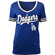 New Era Women's Los Angeles Dodgers V-Neck T-Shirt