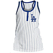 New Era Women's Los Angeles Dodgers Pinstripe White Tank