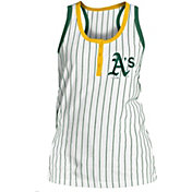 New Era Women's Oakland Athletics Pinstripe White Tank