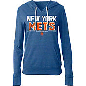 New Era Women's New York Mets Tri-Blend Pullover Hoodie