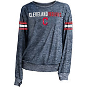 New Era Women's Cleveland Indians Tri-Blend Long Sleeve Crew Sweater