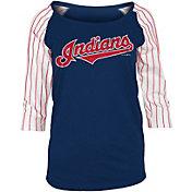 New Era Women's Cleveland Indians Three-Quarter Sleeve Shirt