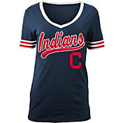 New Era Women's Cleveland Indians V-Neck T-Shirt