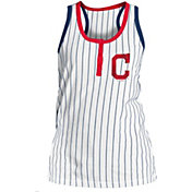 New Era Women's Cleveland Indians Pinstripe White Tank