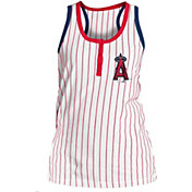 New Era Women's Los Angeles Angels Pinstripe White Tank