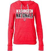 New Era Women's Washington Nationals Tri-Blend Pullover Hoodie