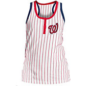 New Era Women's Washington Nationals Pinstripe White Tank