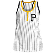 New Era Women's Pittsburgh Pirates Pinstripe White Tank