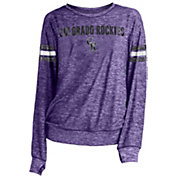 New Era Women's Colorado Rockies Tri-Blend Long Sleeve Crew Sweater