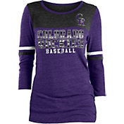 New Era Women's Colorado Rockies Three-Quarter Sleeve Shirt