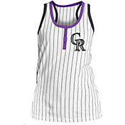 New Era Women's Colorado Rockies Pinstripe White Tank