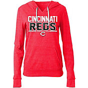 New Era Women's Cincinnati Reds Tri-Blend Pullover Hoodie