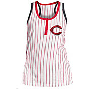 New Era Women's Cincinnati Reds Pinstripe White Tank