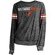 New Era Women's Baltimore Orioles Tri-Blend Long Sleeve Crew Sweater