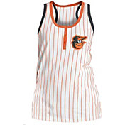 New Era Women's Baltimore Orioles Pinstripe White Tank