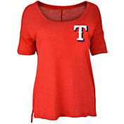 New Era Women's Texas Rangers Scoop Neck Shirt