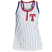 New Era Women's Texas Rangers Pinstripe White Tank