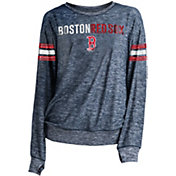 New Era Women's Boston Red Sox Tri-Blend Long Sleeve Crew Sweater