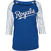New Era Women's Kansas City Royals Three-Quarter Sleeve Shirt