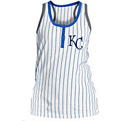 New Era Women's Kansas City Royals Pinstripe White Tank