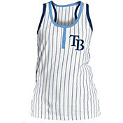 New Era Women's Tampa Bay Rays Pinstripe White Tank