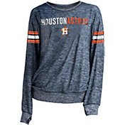 New Era Women's Houston Astros Tri-Blend Long Sleeve Crew Sweater