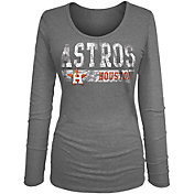 New Era Women's Houston Astros Tri-Blend Navy Long Sleeve Shirt