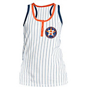 New Era Women's Houston Astros Pinstripe White Tank