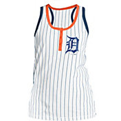 New Era Women's Detroit Tigers Pinstripe White Tank