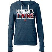 New Era Women's Minnesota Twins Tri-Blend Pullover Hoodie