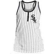 New Era Women's Chicago White Sox Pinstripe White Tank