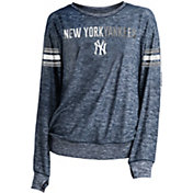 New Era Women's New York Yankees Tri-Blend Long Sleeve Crew Sweater