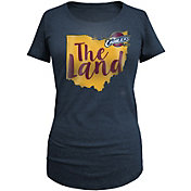 New Era Women's Cleveland Cavaliers Tri-Blend Navy T-Shirt