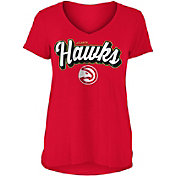 New Era Women's Atlanta Hawks V-Neck T-Shirt